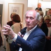 Herman 2005 bei der Eröffnung in der Galerie Kocken