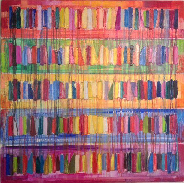 Horizonte II, Öl auf Leinwand, 100 x 100cm, RESERVIERT
