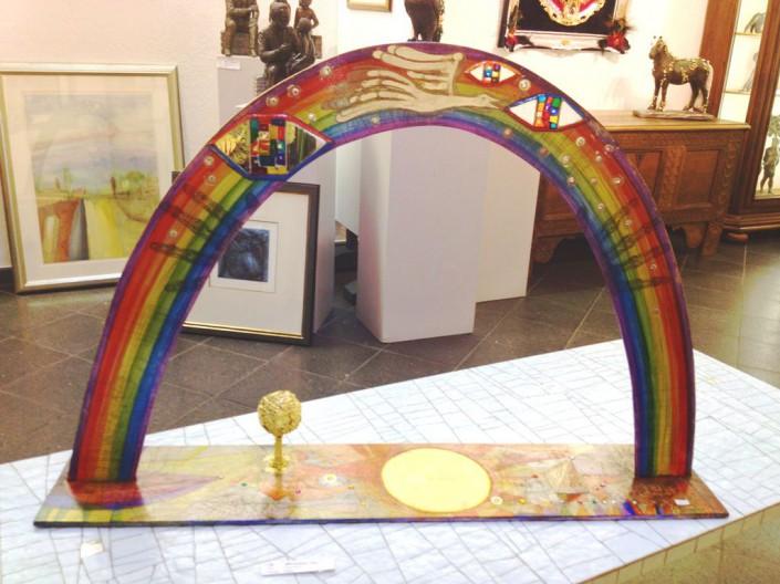 Regenbogen, Objekt, 66 x 100 x 20cm