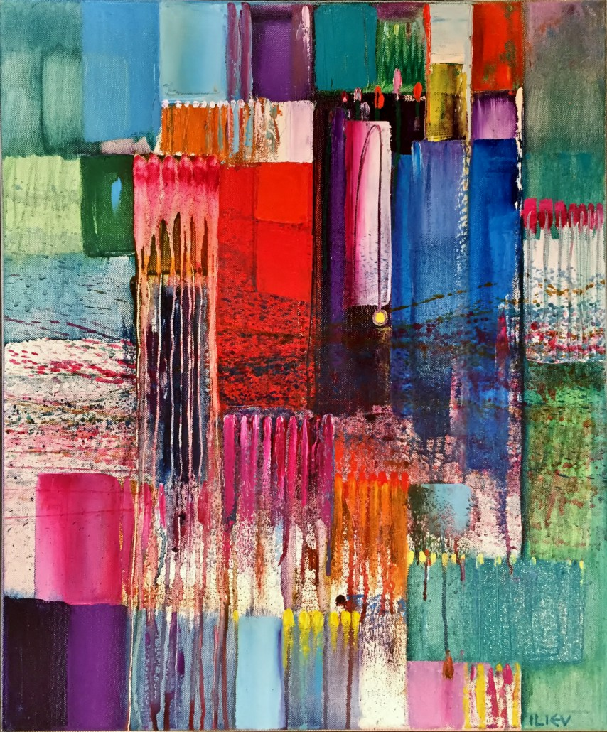 Abstrakt, Öl auf Leinwand, 60 x 50cm
