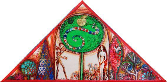 Adam und Eva, Öl auf Leinwand, 30 x 30 x 40cm