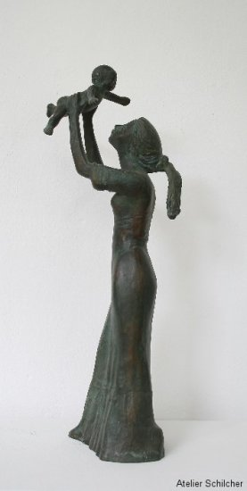 Mutterglück, Bronze